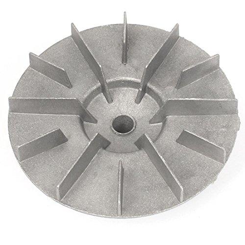 Laufrad Gebläse (sourcingmap® 12mm Bohrung Dmr Silber Aluminium Zentrifugen Gebläse Fan Laufrad Vane Rad)