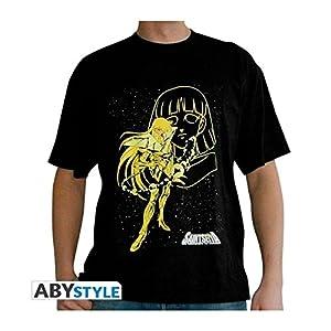 ABYstyle - Camiseta de Manga Corta, diseño de Said Seiya con Texto Shaka of The Virgin, Color Negro