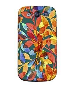 PrintVisa Designer Back Case Cover for Samsung Galaxy S3 I9300 :: Samsung I9305 Galaxy S Iii :: Samsung Galaxy S Iii Lte (Colorful Floral Leaves Design)