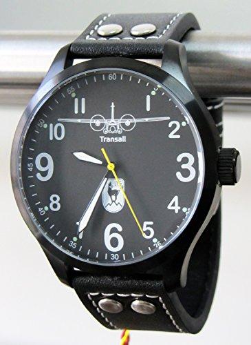 IMC Fliegeruhr 60 Jahre LTG Transall schwarz Herren Armbanduhr Transportflugzeug Uhr