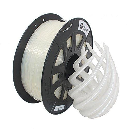 CCTREE PLA Impresora 3D Filamento 1 kg Bobina 1.75mm For Creality CR-10S,Transparent