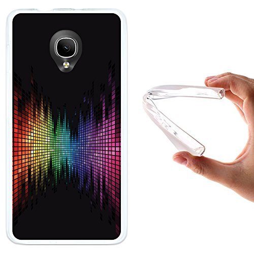 WoowCase Alcatel OneTouch Pop Up Hülle, Handyhülle Silikon für [ Alcatel OneTouch Pop Up ] Regenbogen Equalizer Wirkung Handytasche Handy Cover Case Schutzhülle Flexible TPU - Transparent