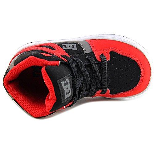 DC Shoes Rebound UL Rund Leder Skateschuh Black/Grey/Red