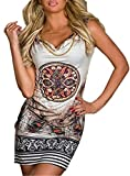 AILIENT Miniskirt Sexy Leopardenmuster Chiffon Ärmelloses Kleid Strandkleid Taille Kleid Schlanke Trägerlos Paket-Hüfte-Rock