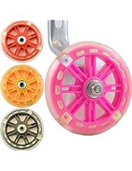 Ruedas de Awesomeness LED bicicleta estabilizadores para niños bicicletas de &. Co. intermitente rojo, verde y azul para ciclismo diversión y seguridad, rosa