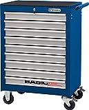 KS Tools Basicline Werkstattwagen mit 9 Schubladen, blau / silber, 837.0009