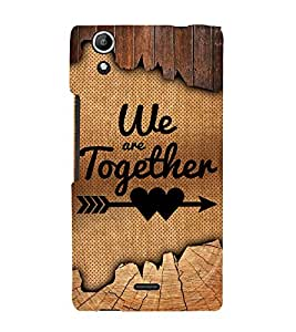 We Are Together Quote 3D Hard Polycarbonate Designer Back Case Cover for Micromax CanvasSelfie2Q340