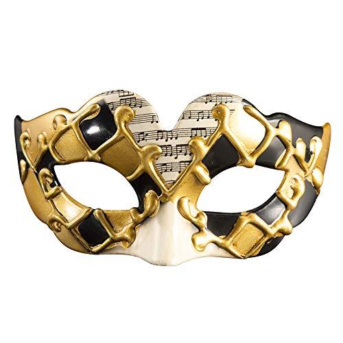 LWR Kreatives Kind Half Face Halloween Maske Venice Masquerade Maske,Black