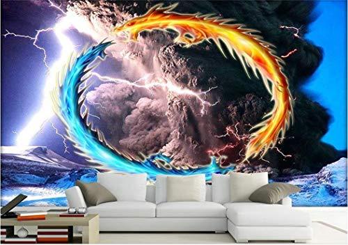 Carta Da Parati Foto Personalizzata 3D Room Wallpaper Murale Tornado Lampo...
