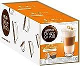 Nescafé Dolce Gusto Caramel Latte Macchiato, Pack of 3, 3 x 16 Capsules 24 Servings