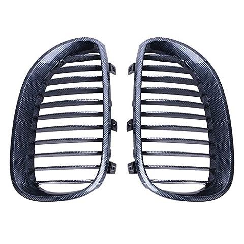 Wanoos Rein avant en fibre de carbone Noir Capuche Grille Grille pour BMW E60E61Série 5M52003–2010