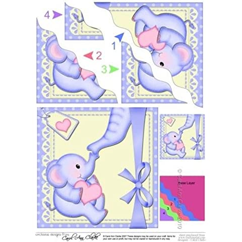 Lil Cuore dell' Elefante, angolo laterale per Topper by Carol Clarke