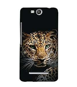 Fuson Designer Back Case Cover for Micromax Canvas Juice 3 Q392 (The tiger theme)