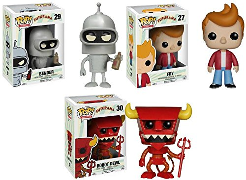 Fry + Bender + Robot Devil - TV Vinyl Figure Set NEW ()