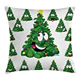 Best Chaises Office Star Patio - Christmas Throw Pillow Cushion Cover, Christmas Tree Cartoon Review