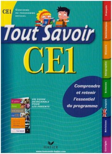 Tout Savoir CE1