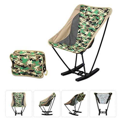 YCHBOS Tragbare Freizeit schaukelstuhl leichte Falten Camping Stuhl, 150 kg kapazität, for Outdoor Camping, Reise, Strand, Picknick, Festival, wandern campingstuhl (Color : C)
