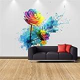 Mbwlkj 3D-Effekt Moderne Individuelle Fototapete Schlafzimmer Wohnzimmer Hintergrund Wandbild Grosse Wandbild Rose Tv Hintergrundbild Einrichten-450Cmx300Cm