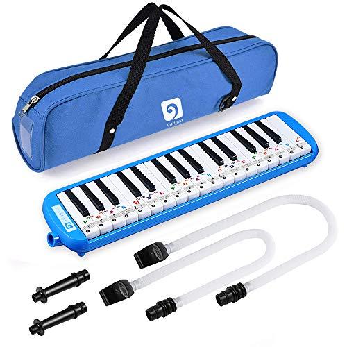 Tragbare Melodica mit 32 Schlüsseln und Tragetasche für Musikliebhaber, Geschenk für Anfänger Blue Type B