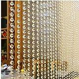 Angoter Cristallo Perle di Vetro Tenda Soggiorno Camera da Letto Finestra Stile Europeo Porta di Nozze Arredamento Brillante Nappa Linea Tende