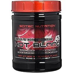 Scitec Nutrition Hot Blood 3.0 - Complejo Estimulante de Pre-Entrenamiento - 300g Guarana