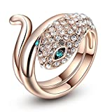 Carina Sneak 18K Rose Gold Plated Ring F...