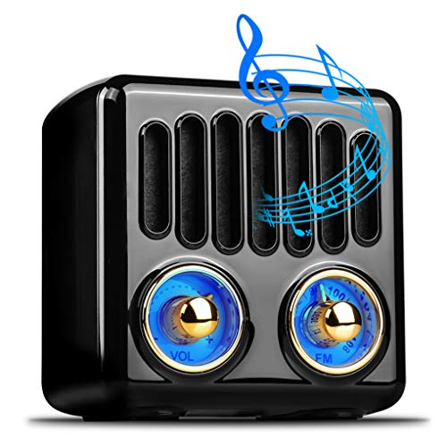 Tragbare Bluetooth-Lautsprecher Olycism Bluetooth 4.2 Mini Lautsprecher mit UKW Radio und intensiver Bass MP3 fähige Musikbox Bis zu 6 Stunden kabellos Digitalradio genießen Schwarz
