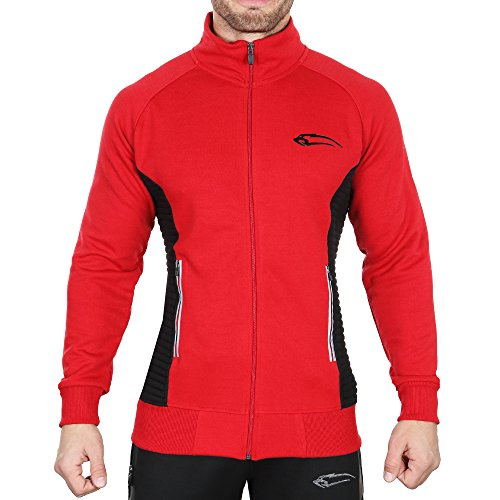 SMILODOX Sportjacke Herren | Zip Hoodie für Sport Training & Freizeit | Trainingsjacke - Laufjacke