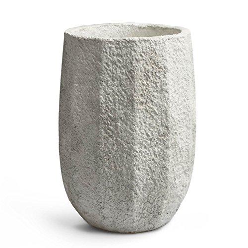 Maceta de cemento blanco VELVET III