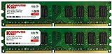 Komputerbay 4GB 2X2GB DDR2 533MHz PC2-4200 PC2-4300 (240 PIN) DIMM Desktop-Speicher