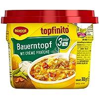 MAGGI Topfinito Bauerntopf mit Creme fraiche, fertiger Kartoffel-Eintopf mit Bohnen & Paprika, herzhaftes Mikrowellengericht, 6er Pack (6 x 380 g)