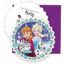 PROCOS Frozen Copos de Nieve gestanzte Tarjetas de invitación & Sobres