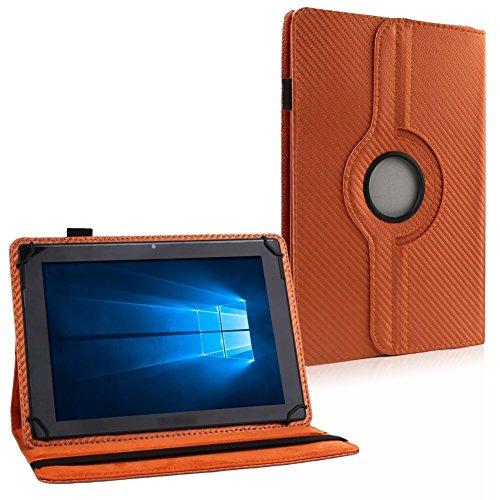 UC-Express Tablet Tasche Hülle für ARCHOS 80d Xenon Carbon-Optik Schutzhülle Cover NAUCI, Farben:Bronze