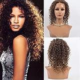 35,6cm Lace Front Cheveux des Perruques 100% cheveux humains profonde vague Cheveux Perruques mongol Cheveux Vierges des Perruques pour femme