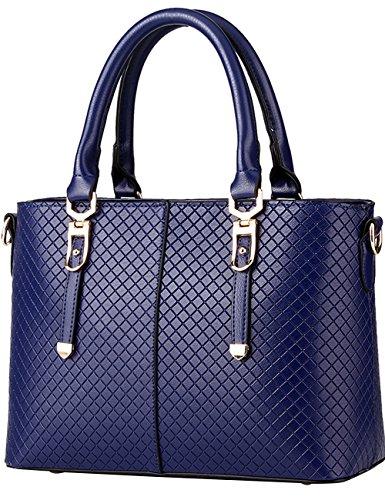 08de1bae6102a Menschwear Damen Handtasche Marken Handtaschen Elegant Taschen Shopper  Reissverschluss Frauen Handtaschen Schwarz Diamon-Blau