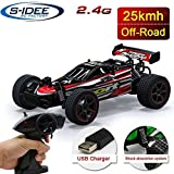 s-idee 18134 S23211 RC Truck mit 2,4 GHz bis 25 km/h 1:20 Buggy ferngesteuertes Buggy Racing Auto Rot mit 2 Batterien