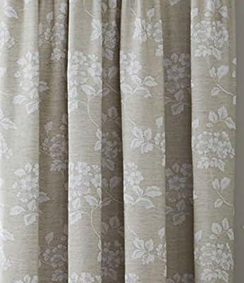 Cortinas plisadas, lino de algodón natural, varios tamaños