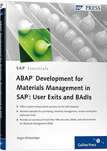 ABAP Development for Materials Management in SAP: User Exits and BAdIs by J????rgen Schwaninger (2010-11-28) par J????rgen Schwaninger