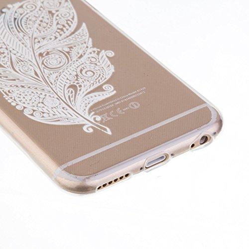 iPhone 5C Hülle, iPhone 5C Silikon Schutz Handy Hülle Kratzfeste Tasche Handyhülle TPU Gel Case Weiches Bumper Schutzhülle, SainCat Silikon Crystal Clear Case Durchsichtig Malerei Schwarz Muster Trans Schwarze Blumen