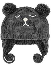 Lukis Bonnet Tricoté Broderie Ours Cache-Oreilles Bébé Fille Garçon Beanie Automne  Hiver 646e427c858