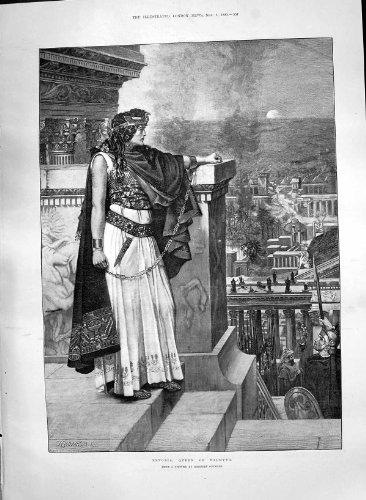 Königin Kostüm Römische - Antiker Druck Zenobia-Königin Palmyra-Römische Kostüme 1890 Herbert Schmalz
