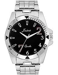 Jainx Black Dial Steel Chain Analog Watch For Men & Boys - JM255