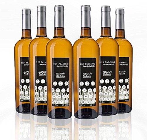 Sin Palabras Vino Blanco Albariño Rías Baixas 2014 - 75 cl - 6 botellas