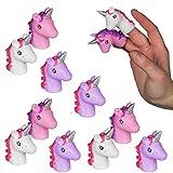 Bada Bing 12er Set Fingerpuppen Einhorn Hand Spiel Finger Figur Tiere Spielzeug Geschenk 941