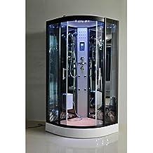 Desineo - Cabina de ducha y baño turco, 80 x 80 cm, opciones completas