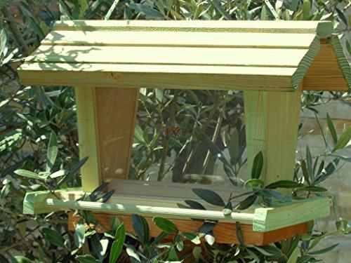 Vogelfutterhaus BEL-X-VOFU2G-moos001 PREMIUM Vogelhaus mit großem 3D-SILO + RIESEN-SICHTSCHEIBEN Futterstation XXL moosgrün grün für Nützlinge Biogarten Nistkasten Schmetterling, KOMPLETT MIT 2 GROSSEN SICHTSCHEIBEN FÜR FUTTERVORRAT, als Ergänzung zum Meisenkasten oder zum Insektenhotel, Vogelfutterhaus, für Vögel, zum Hängen und zum Aufstellen