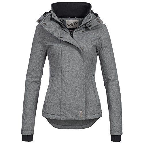 Sublevel Winterjacke Dame Kapuze Warm BF 00550d