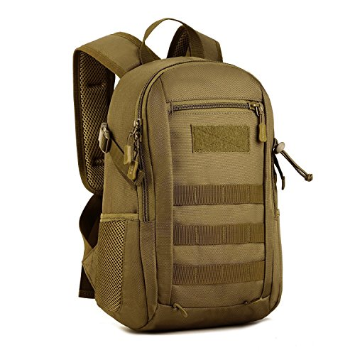 Huntvp® mini zaino sportivo 12l, zainetto militare tattico molle per campeggio alpinismo escursionismo ciclismo viaggio trekking sport