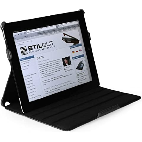 StilGut UltraSlim Case, funda con función de soporte para el original Apple iPad 3 & 4 Wifi + 4G 16, 32, 64 GB,