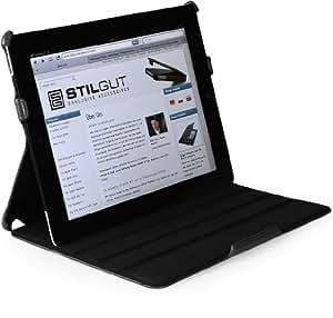 StilGut UltraSlim Case für iPad 2 mit Stand- und Präsentationsfunktion, Schwarz
